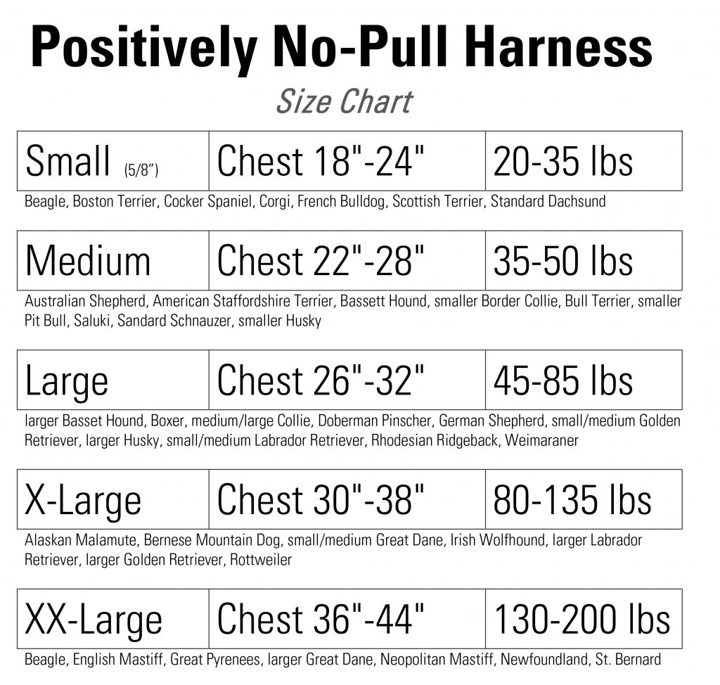 Introducing the newly redesigned positively no pull harness 06 no pull harness size chart geenschuldenfo Image collections