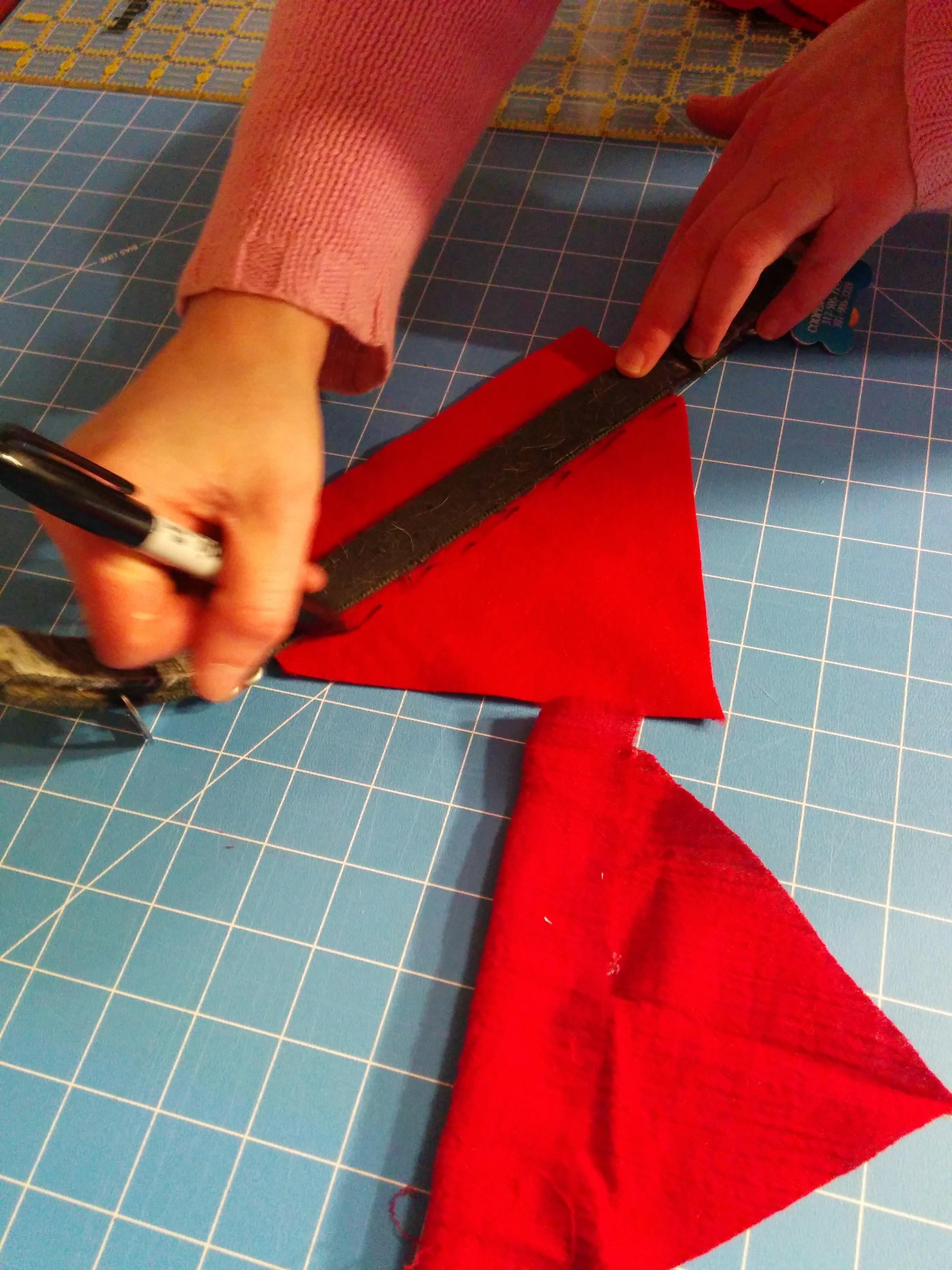 Marking your DIY collar scarf