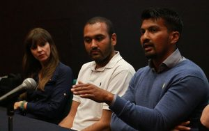 Victoria Stilwell, Chirag Patel & Kamal Fernandez take part in the 2016 DBC presenter panel discussion.