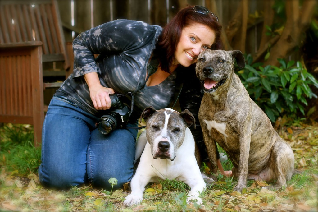 Lori Fusaro with her beloved oldies. (Image Credit: Rita Earl)