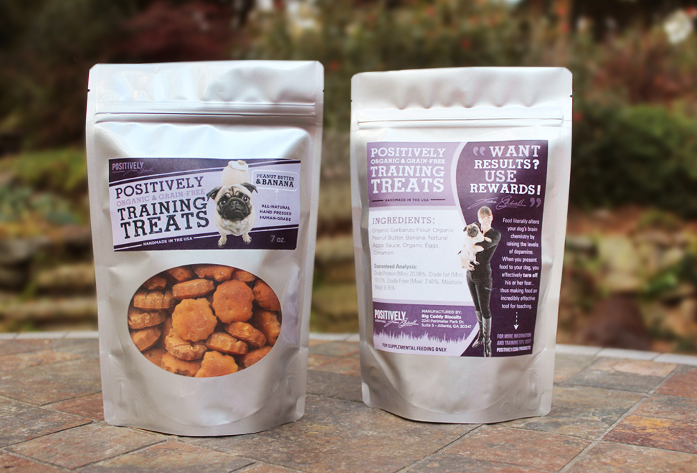 Victoria's new line of hand-made, grain-free organic dog training treats.
