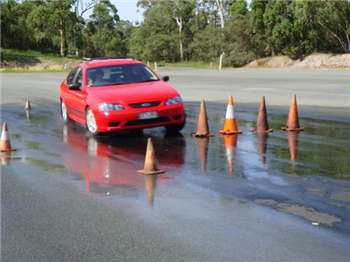 car driving cones