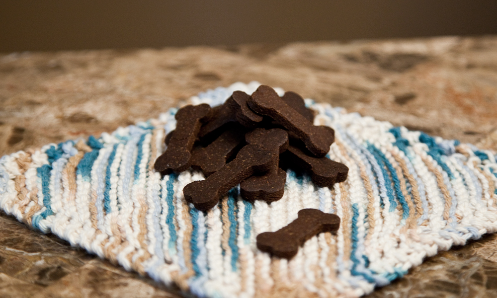 Quinoa, Peanut Butter, and Carob Dog Treats, recipe from Good Dogs & Co.