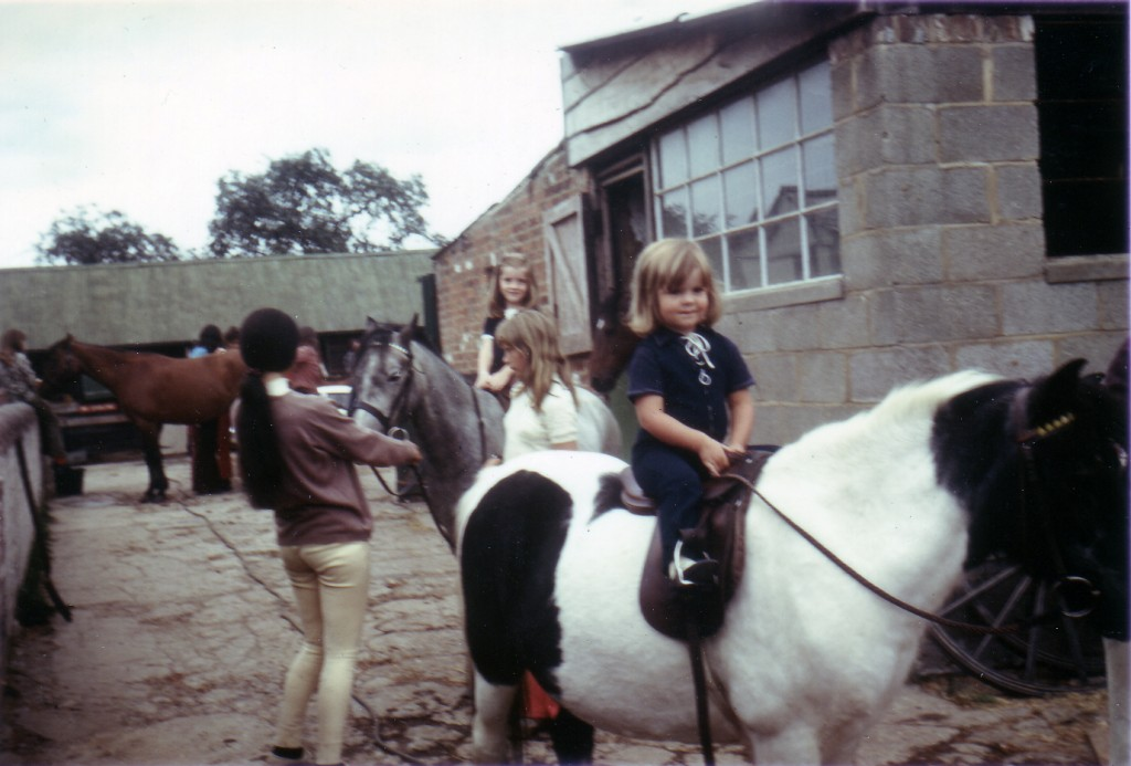 Victoria horseback as a 4 year old.